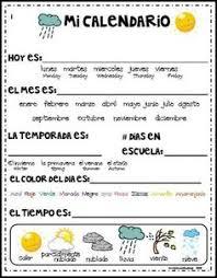 debbie u0027s spanish learning mi calendario teaching dates seasons
