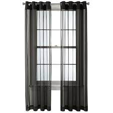Black Sheer Curtains Black Sheer Curtains For Window Jcpenney