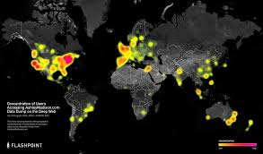 Ddos Map Flashpoint Flashpoint Heat Map Concentration Of Users Accessing