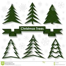 set of christmas trees flat design stock vector image 47236858