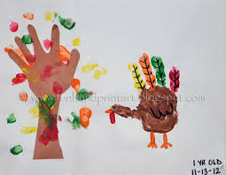 thanksgiving turkey and fall tree handprint keepsake fall