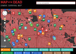 map of the dead map of the dead apocalypse survival aid geekologie