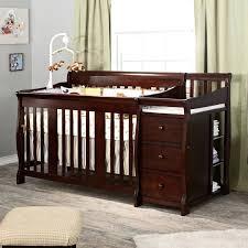 crib with drawer rustic grey 6 drawer dresser room view crib