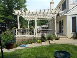 Pergola With Fabric by Deck With Pergolas Deck Pergolas In Lancaster U0026 Chester County