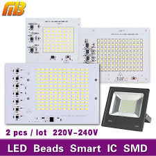 smart outdoor flood light led light chip beans ladas led bulb smd smart ic 10w 20w 30w 50w