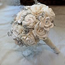 wedding flowers keepsake handmade wedding bouquet small ivory silver bridal bouquet