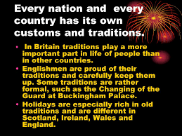traditions and customs ppt