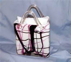 Murano Glass Purse Vase Murano Purple Lavender Blown Glass Purse Vase With Applied Handles