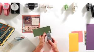 how to use craft punches scrapbooking