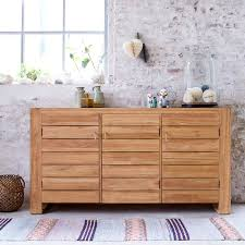 minimalys teak sideboard solid wood sideboards sale tikamoon