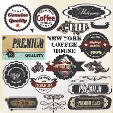 coffee labels with ornaments vector 04 vector label vector