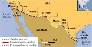 map usa mexico border secure enough the usmexico border henninger americas berlin wall