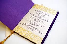 Wedding Invitations Purple Purple And Gold Wedding Invitations Cloveranddot Com