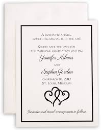 linked hearts wedding save the date cards and contemporary wedding