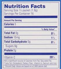 wyler s light singles to go nutritional information wyler s light singles to go powder packets water drink mix