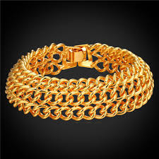 mens gold hand bracelet images Big chunky bracelet men gold silver hand chain bracelet fashion jpg