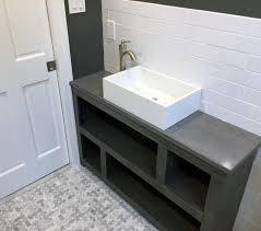 bathroom design amazing concrete countertop finishes polished