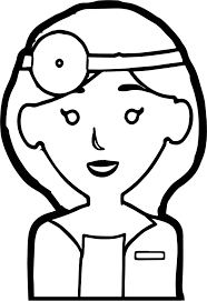 woman doctor coloring page wecoloringpage