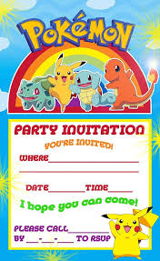 best 20 pokemon birthday invites ideas on pinterest pokemon