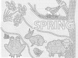 spring mosaic coloring free printable coloring pages