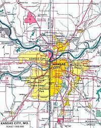 Royals Stadium Map Map Of Kansas City Kansas City Metro Area Map