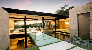 hillcrest residence in beverly hills with a true water garden