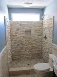 shower tub combo tile ideas natural stone wall and floor tiled interior in ground bath ceiling lamp white toilet white sink marble wall brown tile wall