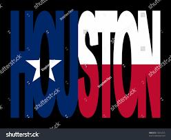 Flags Houston Overlapping Houston Text Texan Flag Illustration Stock