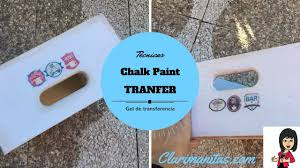 Diy Transfer Mueble Paso A Paso Chalk Paint Transferencia Imagenes Youtube