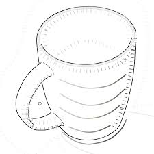 Hot Chocolate Mug Coloring Page Printable Free Coloring Book Picture Cup Coloring Page