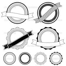 black and white ribbon badges with ribbon clipart black and white clipartxtras