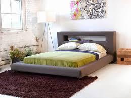 bedroom solid king low profile platform frame decofurnish with