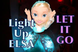 dolls that light up singing frozen elsa doll toy review let it go snow glow light up