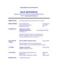 Volunteer Work Examples For Resume by Student Resume Volunteer Work