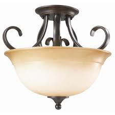 Ceiling Light Fixtures by Black Semi Flushmount Lights Ceiling Lights The Home Depot