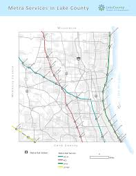 Train Map Chicago by Metra Rail Lake County Il