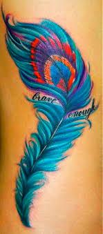 arti tato bulu merak beautiful colors and feather more tattoos art pinterest