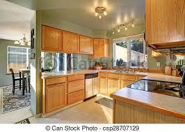 cuisine en dur beau bois dur traditionnel floor cuisine beau photo de