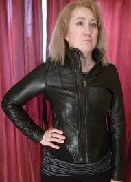 ladies black leather cuir cuero bomber jacket s size 8 uk 6 usa 34
