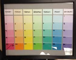 Paint Chips by Paint Swatch Calendar I U0027ll Be Making One Of These Soon Ideas