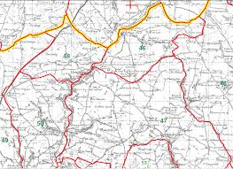 Tre Map Genuki Tre Lech A U0027r Betws Parish Map Part 44 Carmarthenshire