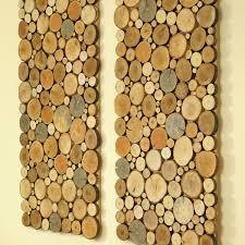 wooden wall art tree rounds decor slice by freetreestudio loversiq