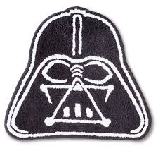 Black And White Bathroom Rug by Star Wars Classic