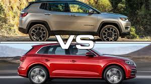audi jeep 2017 2017 jeep compass vs 2017 audi q5 youtube