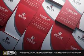 Red Business Cards Professional Looking Photoshop Business Card Template Ideas
