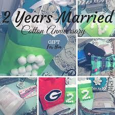 2 year wedding anniversary gift wedding anniversary gift 2nd wedding anniversary gift cotton theme