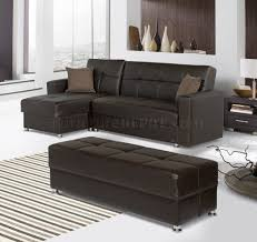 Convertible Sectional Sofa Bed Lego Sectional Sofa Convertible In Brown Bonded Leather By Rain