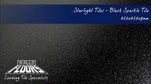 Black Sparkle Laminate Flooring Starlight Tiles Black Sparkle Tiles 10501 Youtube