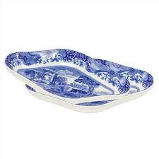 spode blue italian set of 2 pickle dishes spode usa