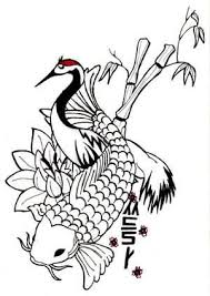 draw black outline koi fish design tattooshunter com